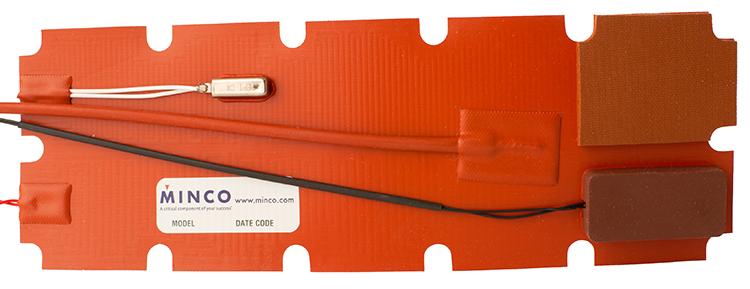 Minco silicone rubber heater